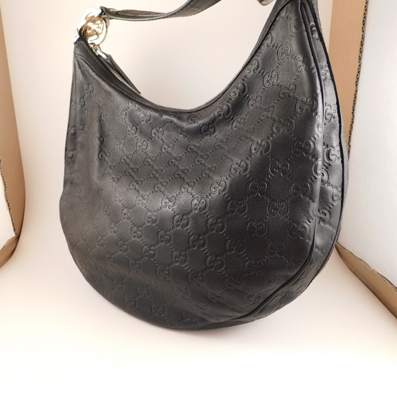 b14e267c88fe2d Gucci Handbags - Gucci Black Guccissima Leather Twins Hobo Bag
